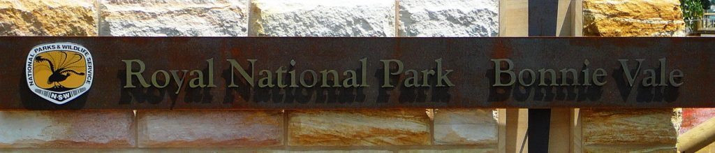 Royal National-Park Bonnie Vale Entrance Sign